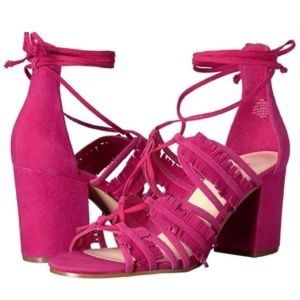 Nine West Genie Sandals Block Heels Lace up